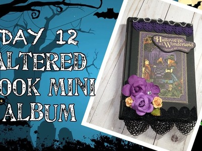 13 Days Of Halloween | Day 12: Altered Book Mini Album