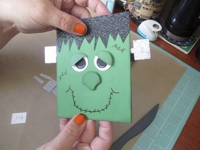 """13 Haunted Projects Of Halloween #9~ """"FRANKly I Love Halloween"""" Card"""