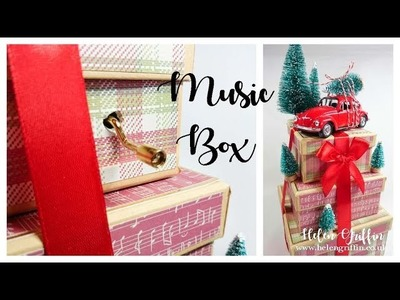 5th Day of Christmas 2018 | Musical Gift Box Stack with Red Car & Tree