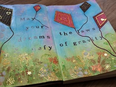 Art journal mixed media tutorial- Autumn dreams