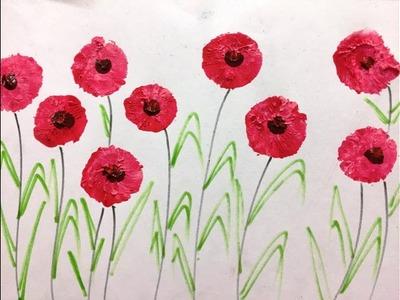Balloon painting | Balloon Flowers for Kids