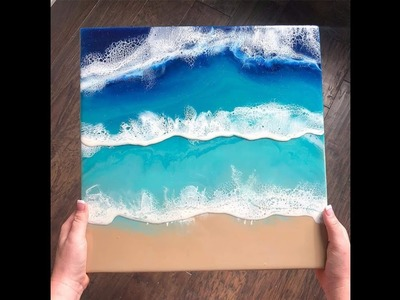 Beautiful! Beach inspired resin pours with Ann Upton a Modern Craft
