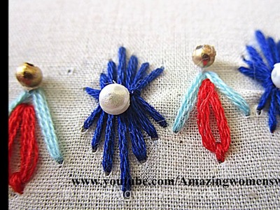 Beautiful Border Design #11, Hand EMbroidery for Office. daily wear