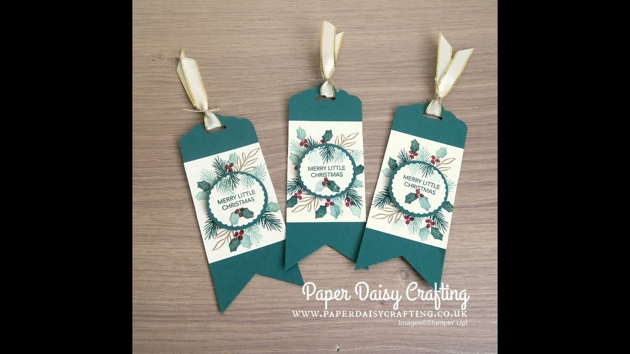 Christmas gift tags with Peaceful Noel from Stampin' Up!