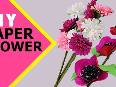 COOL PAPER FLOWER MAKING    Paper Craft   How To Make Paper Flowers     Aloha Crafts