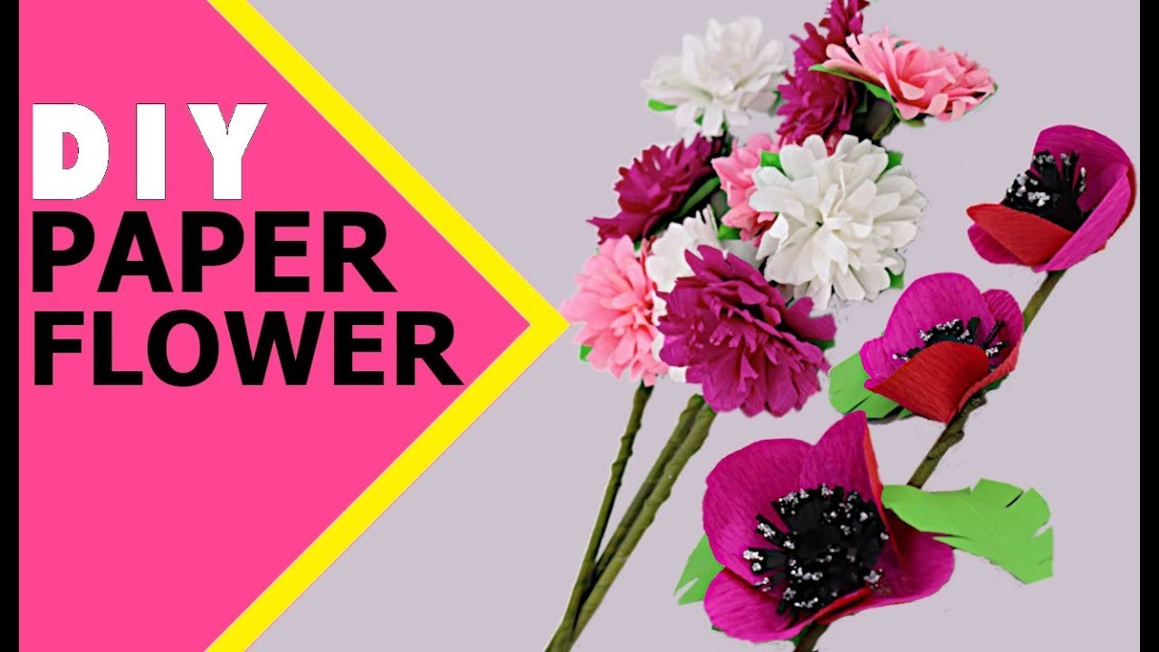 Cool Paper Flower Making Paper Craft How To Make Paper Flowers