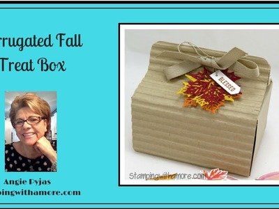 CORRUGATED FALL TREAT BOX