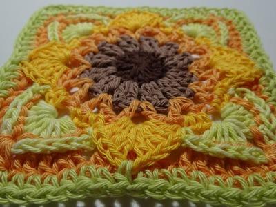 Crochet Blanket - Eve's Sunflowers - Part 8
