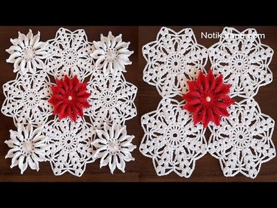 CROCHET Doily Pattern  Part 2  How to join motifs