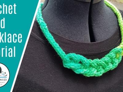 Crochet Icord necklace tutorial #crochet #easycrochet #crochettutorial