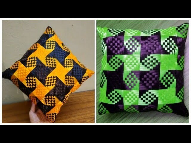 CUSHION cover making design pattern cutting stitching inhindi at home weaving knitting cojin capiton