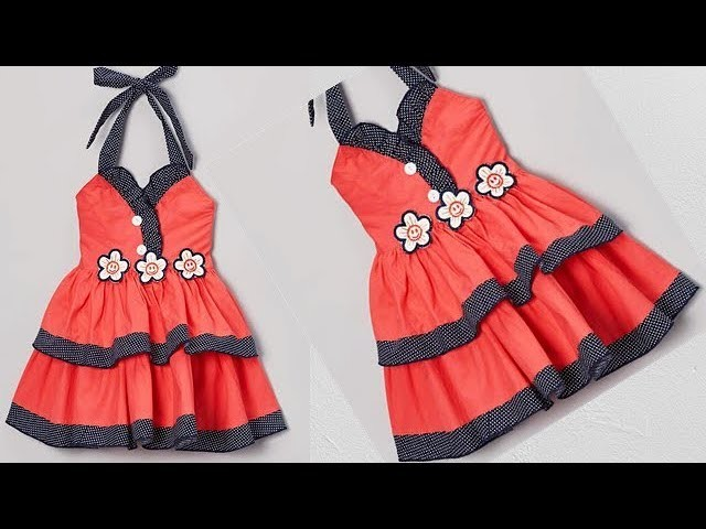 bbe45e8eb Diy Designer Baby Frock Cutting And Stitching Full Tutorial