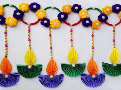 DIY Diwali Decorations.Diwali decoration Ideas Door Hanging.Easy Diwali Decoration Ideas 2018