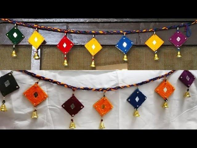 DIY Diwali Door Toran.Diwali Decoration.Diwali Craft.Beautiful Door Toran.#tulikajagga