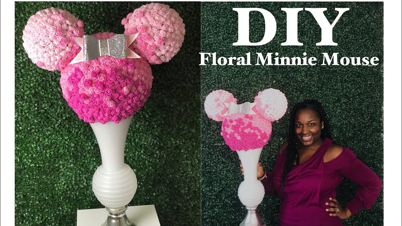 DIY Floral Minnie Mouse Head | Party Or Room Decor