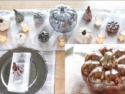 DIY Mercury Glass Pumpkin for Thanksgiving