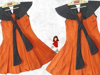 Diy New design frock for Baby girl. by simple cutting