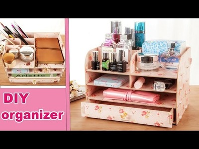 DIY ORGANIZER OUT OF CARDBOX. Adorable & Easy Tutorial No Spend Money