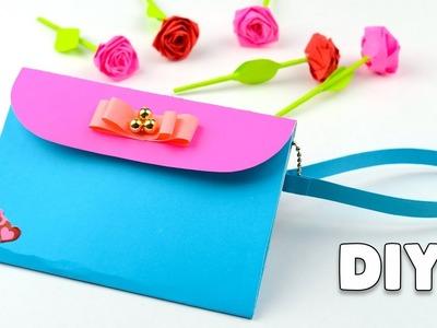 DIY Purse Bag Clutch No Sew | Easy Paper Crafts