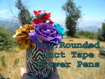 Diy:Rounded Duct Tape Flower Pens {Back To School}