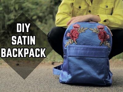 DIY Satin Backpack. DIY saténový batoh (SK, EN sub)