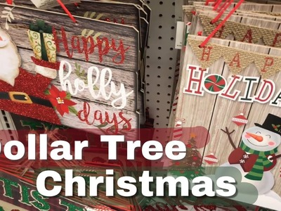 Dollar Tree Shop with Me | Sneak Peak at all the Christmas Signs
