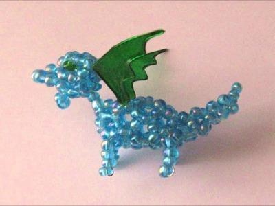 Draghetti con perline di conteria - Seed bead little dragons