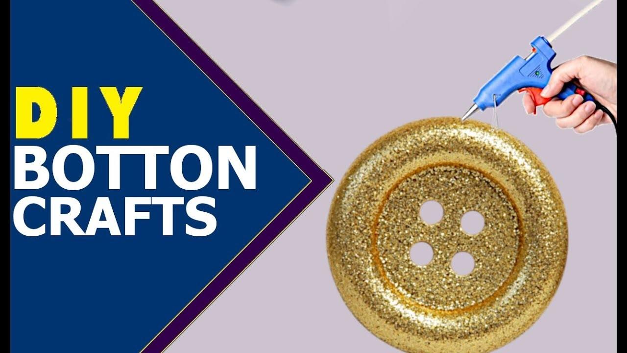 EASY BUTTON CRAFT, Button Art, Tutorial, DIY Buttons Crafts