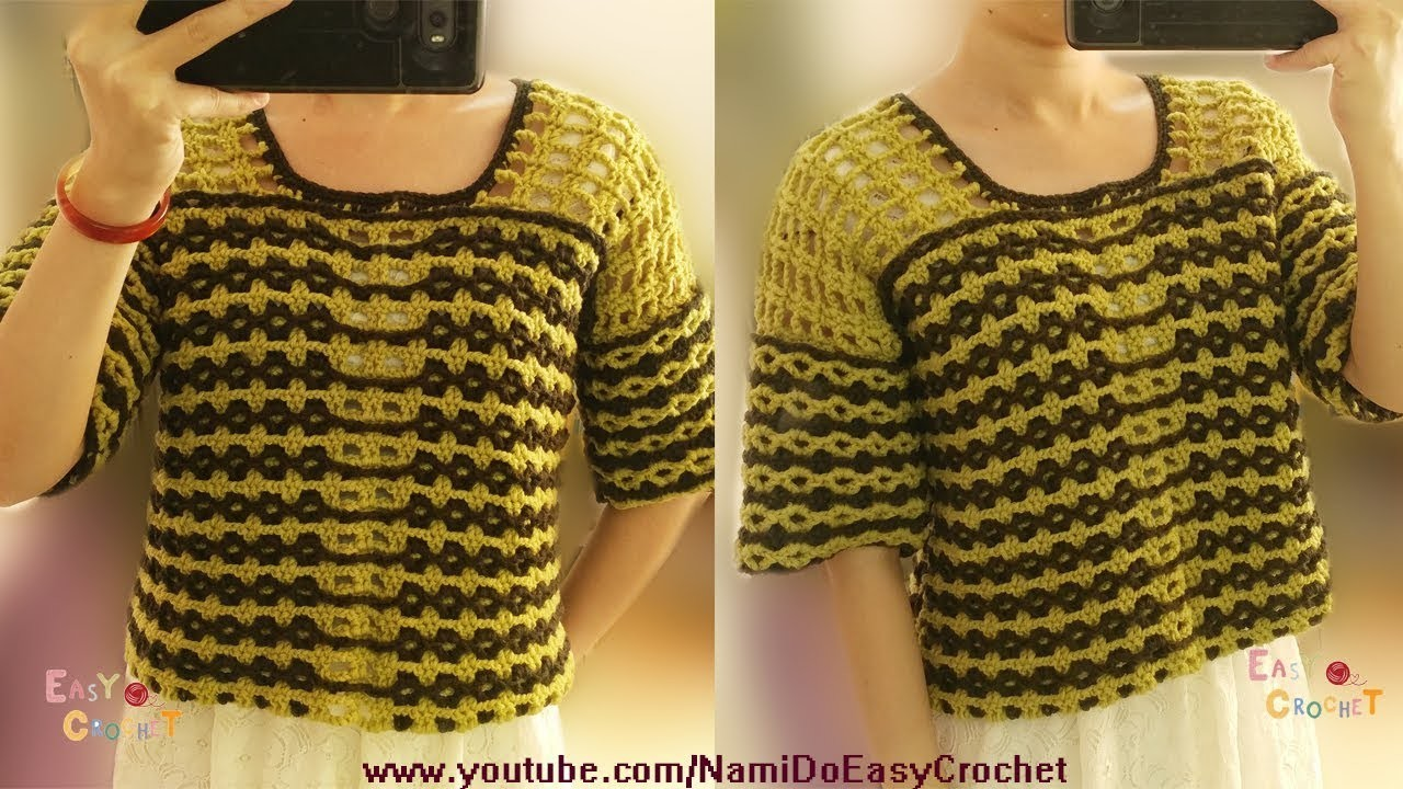 Easy Crochet: Crochet Sweater #03
