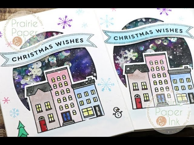 Easy Galaxy Background Shaker Cards | AmyR 2018 Christmas Card Series #8