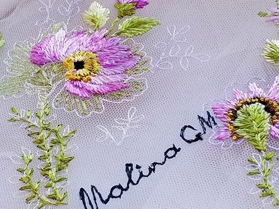 Embroidery for dresses ???? Вышивка для платья