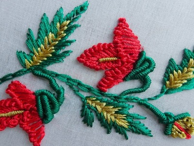 Hand Embroidery flowers | hand embroidery for Dress