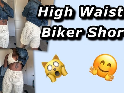 High Waisted Biker Shorts - Crochet Tutorial