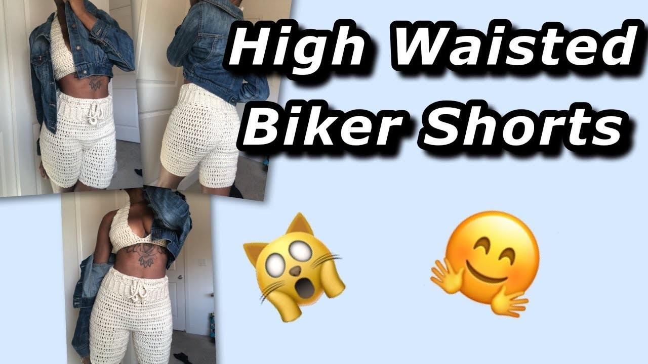 High Waisted Biker Shorts - Crochet Tutorial