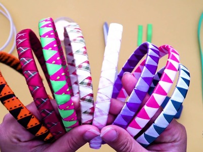 How to Cover a Headband with 2 Ribbons