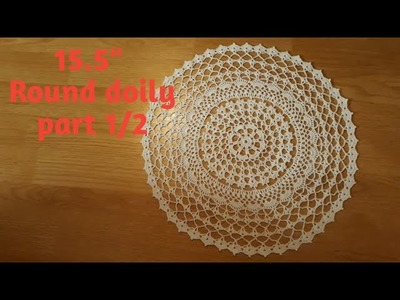 """How to crochet 15,5"""" round doily - part 1"""