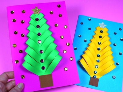 How to Make a Christmas Tree Card | Christmas Card Idea