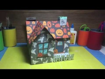 How To Make a Paper.Cardboard Spooky Halloween Haunted House Decoration