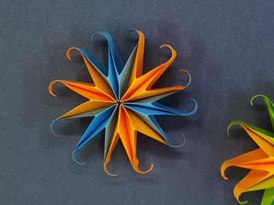 How To Make A Paper Snowflake for Christmas Decoration | Easy 3D Paper Star for Xmas