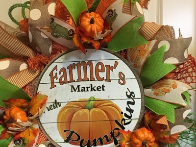 How to make a poof curl pumpkin wreath- Time to start fall