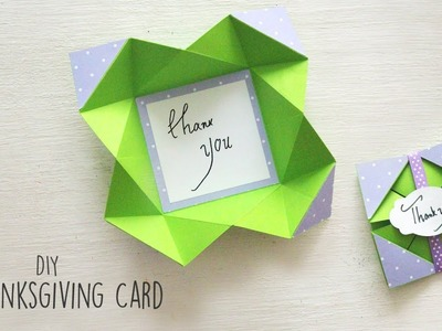 How to make a Thanksgiving Card   DIY Thanksgiving Cards
