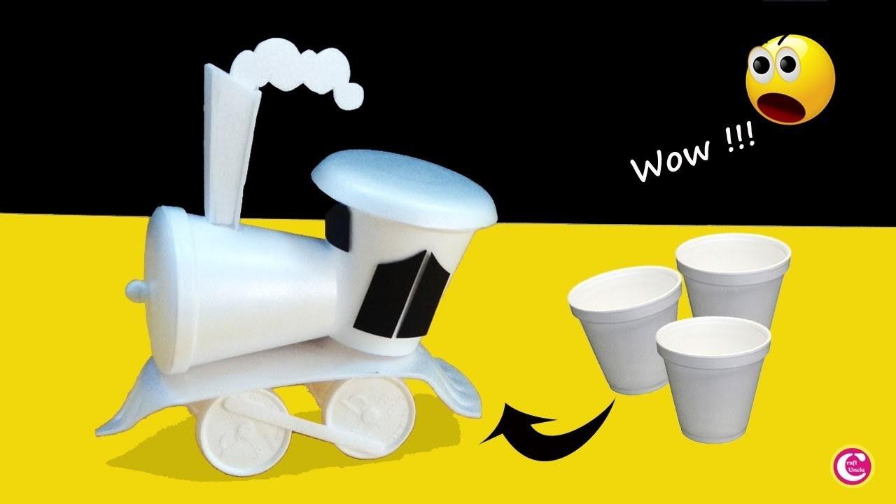 How To Make a Train - Diy Toy Train - Kids Craft Ideas