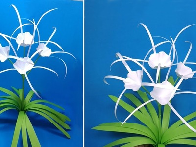 How to Make Beautiful Spider Lily Flower with Paper | Handcraft Flower | Jarine's Crafty Creation