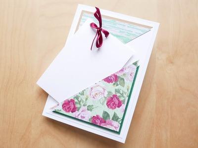 How to make : Birthday Card with a Pocket | Kartka Urodzinowa z Kieszonką - Mishellka #310 DIY