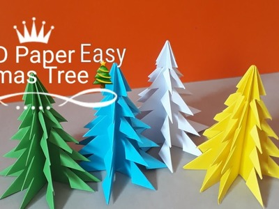 How to make christmas tree with paper easy? #D tabletop christmas tree