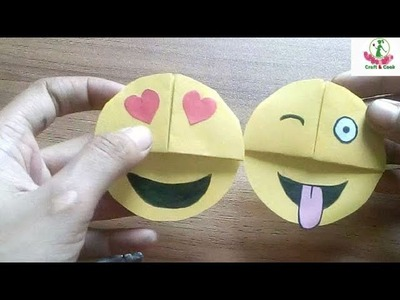 How to make paper bookmarks step by step।। Emoji Bookmark।। Craft & Cook by Hafsa