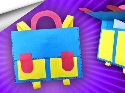 How to make Paper craft School Bag ???? | DIY crafts | minute crafts for kids | easy origami