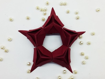 How to Make Paper Star for Christmas Decoration   DIY Paper Stars making instructions