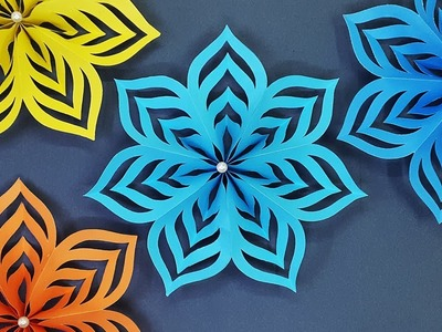How to Make Paper Stars for Christmas Decoration   DIY Christmas Snowflakes