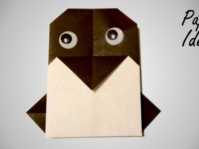 How to make PENGUIN from PAPER | ORIGAMI